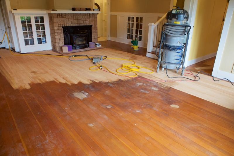 Fir Floor Refinish In Process 2017 04 20 At 10 27